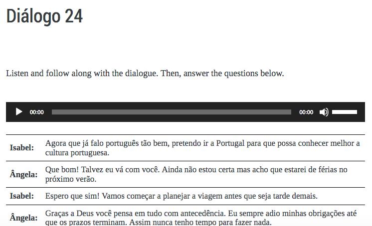 Intro to Portuguese – Português para principiantes