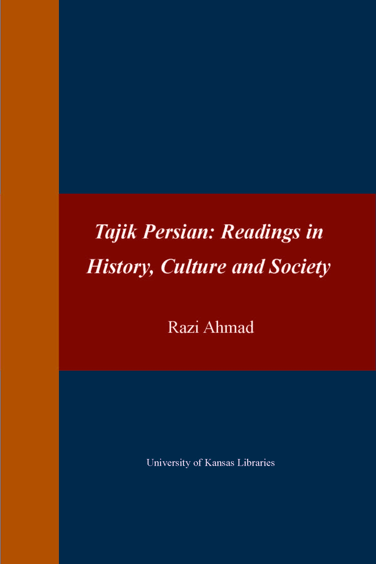 Tajik Persian book cover
